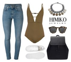 """""""HIMIKO"""" by baludna ❤ liked on Polyvore featuring Zimmermann, Yves Saint Laurent, Illesteva and ASOS"""