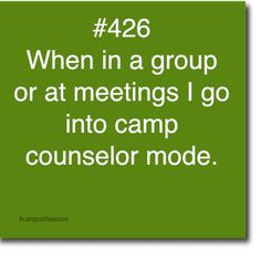 Confessions of campers, counselors, and life long outdoor enthusiasts. Camping Life, Tent Camping, Outdoor Camping, Camp Quotes, Camp Counselor, Working Holidays, Camping Activities, Good Job, Happy Campers