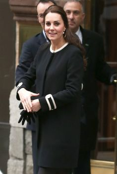 Catherine, Duchess of Cambridge, leaves after visiting Northside Center for Child Development on December 8, 2014 in New York City.
