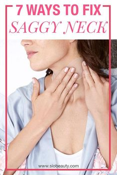 SAGGY NECK Best tips and tricks you can use to smooth tighten and firm the skin on your neck and help you go from flabby to fabulous in no time. How to get rid of neck wrinkles. - April 13 2019 at Neck Wrinkles, Prevent Wrinkles, Tighten Neck Skin, Facial Exercises, Saggy Neck Exercises, Chest Exercises, Loose Skin, Sagging Skin, Skin Tightening