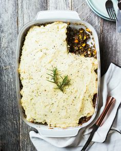 Vegetarian Shepherd's Pie with French Lentils | A Couple Cooks