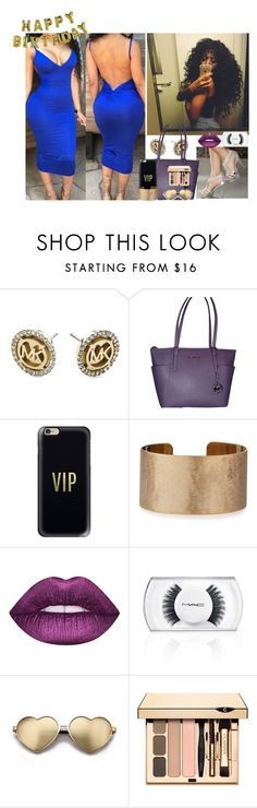 """""""Happy Birthday Boo ! Love You ,Yuh better Slay"""" by saucinonyou999 ❤ liked on Polyvore featuring Michael Kors, Talking Tables, Casetify, Panacea, MAC Cosmetics and Wildfox"""