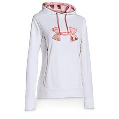 under armour storm caliber hoodie - white/pink. $64.99.