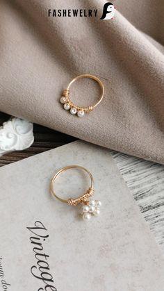 Diy Wire Jewelry Rings, Diy Beaded Rings, Handmade Wire Jewelry, Wire Wrapped Jewelry, Beaded Jewelry, Wire Jewellery, Copper Jewelry, Diy Bracelets Patterns, Jewelry Making Tutorials