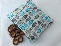 Reusable Snack Bag  Reusable Baggie  Owl by EcoHipCustomDesigns