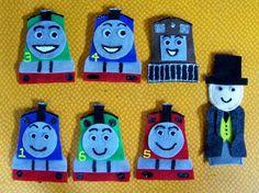 Thomas the Train Felt Finger Puppets {Etsy DIY} #gifts