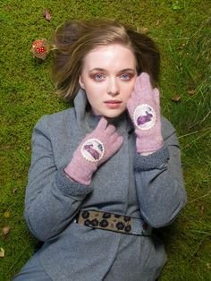 hand knitted wool/mohair gloves by Anu Kaelussoo facebook.com/AnuKaelussooDesign