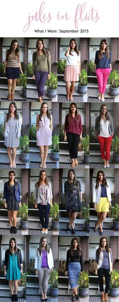 jules in flats: Monthly Outfit Roundup September 2015