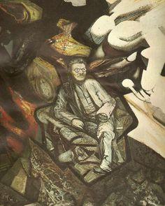 Siqueiros. Retrato del pintor José Clemente Orozco. 1947