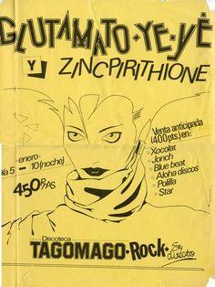 Fanzine. Glutamato Ye-Yé con Zincpirithione en Tagomago Rock - Mallorca