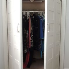 Convert bi-fold closet doors to swing out french doors with this simple and cheap tutorial.