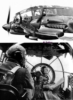 Luftwaffe crews of the Heinkel The achieved much success early on in but could not compete with the advances in allied air power. Aircraft Photos, Ww2 Aircraft, Military Aircraft, Luftwaffe, Image Avion, German Soldier, German Army, Bomber Plane, Ww2 Planes