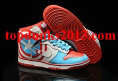 save off e8be7 b7c9c Primal Scream Red Captain America Nike Dunk High Top Men Fast Shipping Nike  Shoes Cheap,
