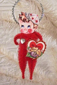 Image result for create bump chenille vintage valentines ornaments