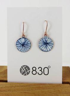 Drawn Blue and White Enamel Dangle Earrings Geode Jewelry, Ceramic Jewelry, Enamel Jewelry, Clay Jewelry, Gemstone Bracelets, Jewelry Necklaces, Jewellery, Sterling Silver Earrings Studs, Dangle Earrings