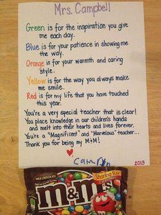 End of year teacher gift!
