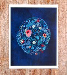 Flora Art Print by Britt Hermann