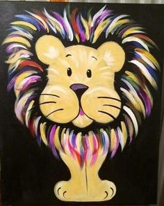 BE FIERCE... (March painting program - In like a Lion, out like a Lamb)