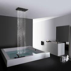 If you can't go to the spa, get the to you! house design designs home design room design Dream Bathrooms, Beautiful Bathrooms, Modern Bathroom, Modern Shower, Bathroom Interior, Minimalist Bathroom, Modern Bathtub, Minimalist Chic, Luxury Bathrooms