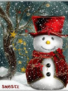 Merry Christmas & Happy New Year ! Animated Christmas Tree, Merry Christmas Gif, Christmas Scenery, Merry Christmas And Happy New Year, Christmas Pictures, Christmas Snowman, Christmas Time, Vintage Christmas, Christmas Christmas