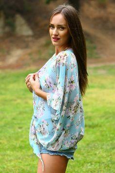 Floral Wrap Kimono for Summer