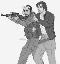 'Try to focus on a target.' 'I am! This is pointless, Cassian. I'm a cargo pilot, not a shooter!' 'This doesn't change anything. Beside, I want you to know how to defend yourself and your friends. We are in this fight together, so we need to trust...