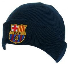 cbdd3264f32 FC Barcelona Knit Hat - TU Navy
