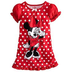 Polka Dot Minnie Mouse Nightshirt for Girls - WANT FOR WILLOW!!!!!!