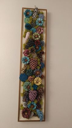 I made this!!!  First major pine cone project