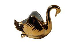 Hallerstein Bavaria Porcelain Swan 22 KT Gold Plated | Etsy