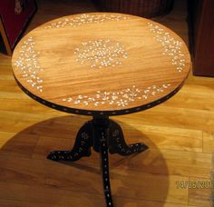Syrian Or Middle Eastern Bone Inlay Wood Tea Table On Kijiji Montreal
