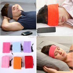 USA Sleeping Mask Headband Anti Noise Over Ear Headphone Headset For Cell Phone