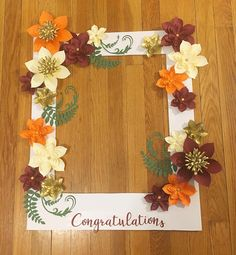 "Congratulations Selfie Frame This beautiful customized selfie frame is a great addition for your next special event! Perfect for any special occasion including weddings, baby showers and birthdays! The is the MEDIUM frame measures 24"" x 20"" and is made out of durable lightweight"