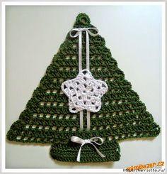 Crochet+y+dos+agujas:+Arbol+de+navidad+al+crochet+con+diagrama