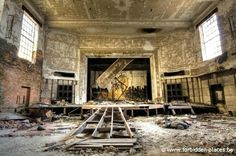 The auditorium of an abandoned school building in Gary Indiana.       ..rh