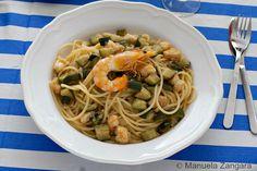 """""""Prawn and Zucchini Spaghetti"""" by Manuela Zangara - Manu's Menu (http://www.manusmenu.com/)"""