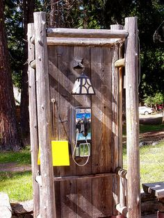 Rustic Phone booth