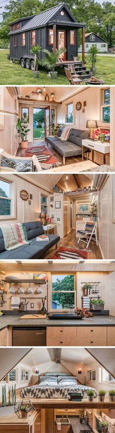 The Riverside tiny house by New Frontier Tiny Homes. A 246 sq ft home with Scandinavian flair.