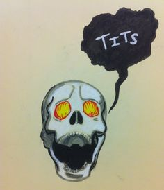 Bob the Skull by ~KtObermanns on deviantART - Bob from The Dresden Files. Why? Because Bob.