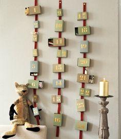Un calendrier de l'avent en boîtes d'allumettes - Advent Calendar with boxes of matches
