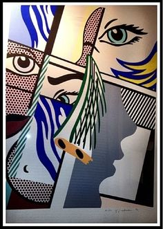 """Roy Lichtenstein Modern Art II , 1996 screenprint in colors on paper "" Roy Lichtenstein Pop Art, Art Pop, Pablo Picasso, Paul Klee, Industrial Paintings, Jasper Johns, La Art, Claes Oldenburg, Art Plastique"