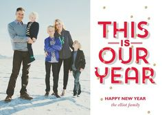 Our Best Year - New Years Cards - Baumbirdy for Tiny Prints in Charcoal Gray