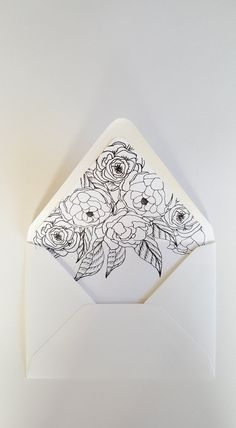 A7 Envelope Liner Artful Florals by PaperAndStyleCo on Etsy