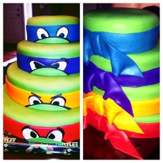 Teenage Mutant Ninja Turtle cake. Designed and Created by Malisa Carlson & Crystal Rellaford