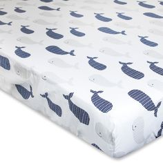 Add a chic touch to baby's crib with this Wendy Bellissimo Landon Fitted Sheet. Chevron whale all over pattern x x Cotton Machine wash Imported Size: One Size. Ikea Nursery, Whale Nursery, Nautical Nursery, Nursery Themes, Nursery Ideas, Themed Nursery, Nursery Decor, Baby Decor, Room Ideas