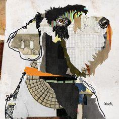Dog Art of Schnauzer on Canvas Print