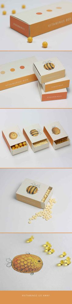 Las cajas de vitaminas más lindas que se puedan imaginar.