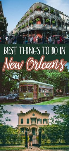 Best things to do in New Orleans for any first time visitor! Famous for its great music, delicious food, beautiful architecture, and friendly faces New Orleans is a must visit for anyone traveling or living in the United States. Vacation Destinations, Dream Vacations, Vacation Trips, Vacation Humor, Vacation Mood, Greece Vacation, Mini Vacation, Caribbean Vacations, Beach Vacations