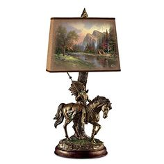 Thomas Kinkade Native Journeys Sculpture Lamp With Art Shade by The Bradford Exchange * Amazon most trusted e-retailer #ChristmasLights