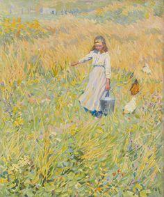 Helen McNicoll, The Little Worker, c. 1907. Oil on canvas, 61 x 51.3 cm. Art Gallery of Ontario, Toronto. #ArtCanInstitute #CanadianArt